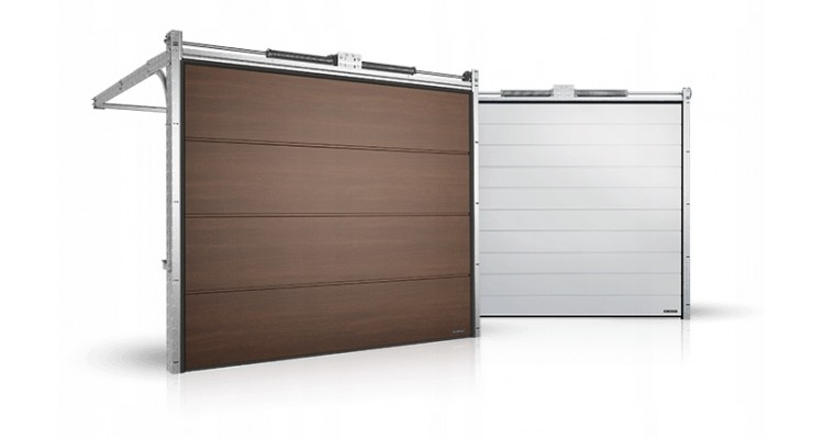 Гаражные секционные ворота серии Alutech Prestige 3625x1750