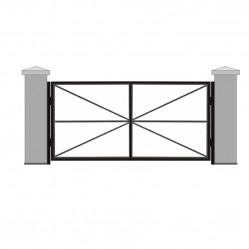 Ворота распашные без обшивки 3000х2000 мм