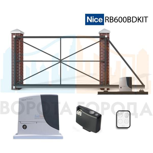 Ворота откатные 3000х2000 мм с электроприводом Nice RB600BDKIT