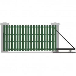 Ворота откатные с евроштакетником 3250х2000 мм