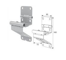 Боковая опора с держателем ролика для панелей с защитой от защемления пальцев модифицированная