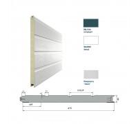 Панель 475мм Ндерево Доска/Нстукко Антрацит(RAL7016)/Белый(RAL9003)