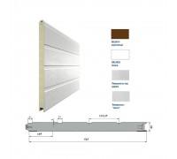 Панель 525мм Ндерево Доска/Нстукко Коричневый(RAL8014)/Белый(RAL9003)