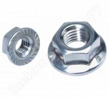 Гайка/D=М8/Шестигранная с фланцем /Неоцинкованный Нержавеющая сталь