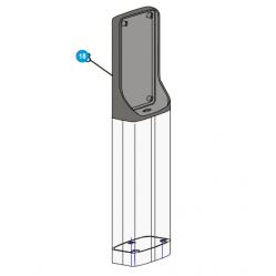 CAME Крепление для фотоэлемента DBC к стойке 119RIR265