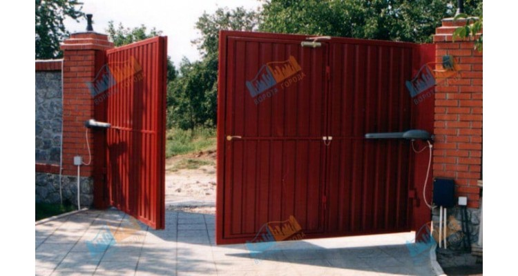 Ворота распашные 3000х2500 мм